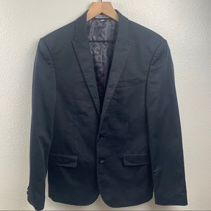 EXPRESS MENS FITTED SUIT JACKET CAMO PRINT INSIDE